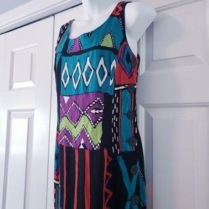 Dresses & Skirts - Vtg 1980's Mark Farrel Sleeveless Colorblock Dress